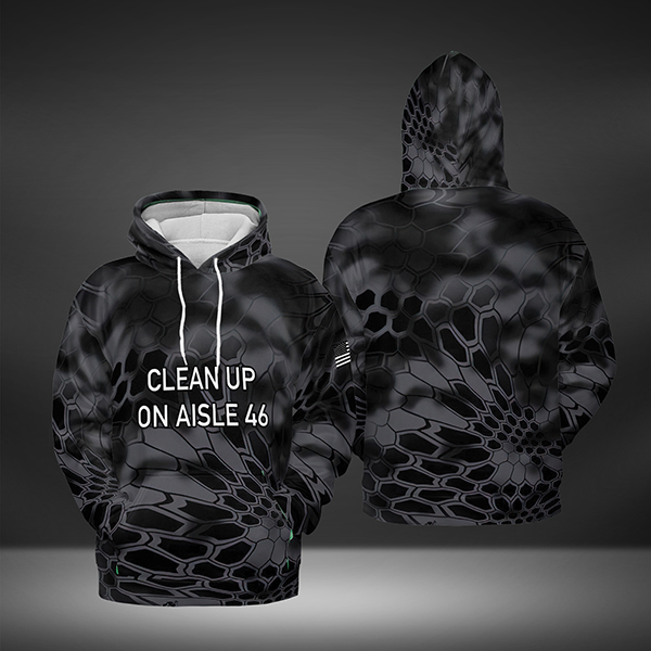 Clean up on aisle 46 3D All Over Print Hoodie