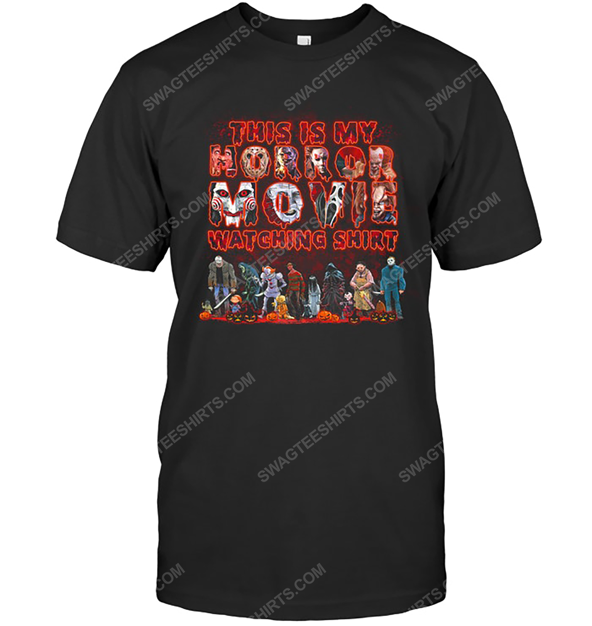 Scary movie fan this is my horror movie watching shirt