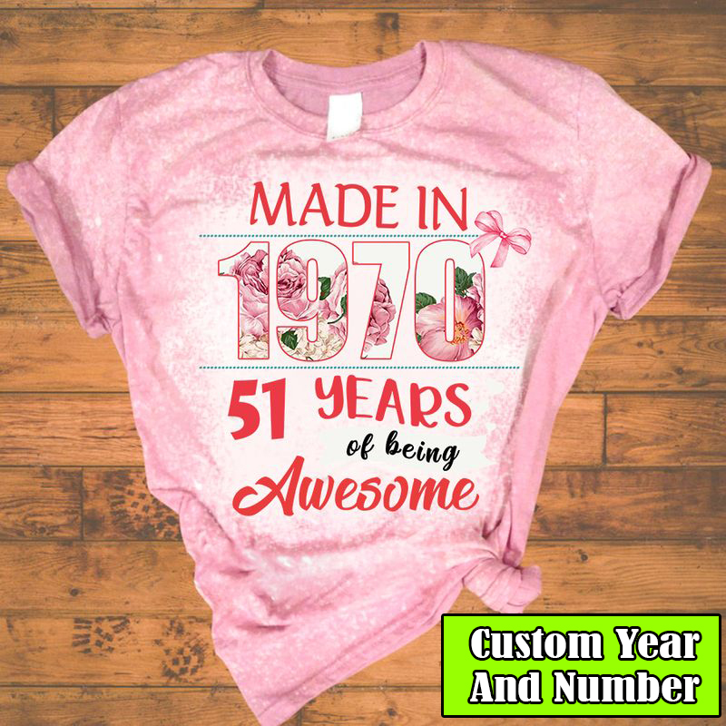 Personalized made in 1970 51 years of being awesome 3D T-Shirt