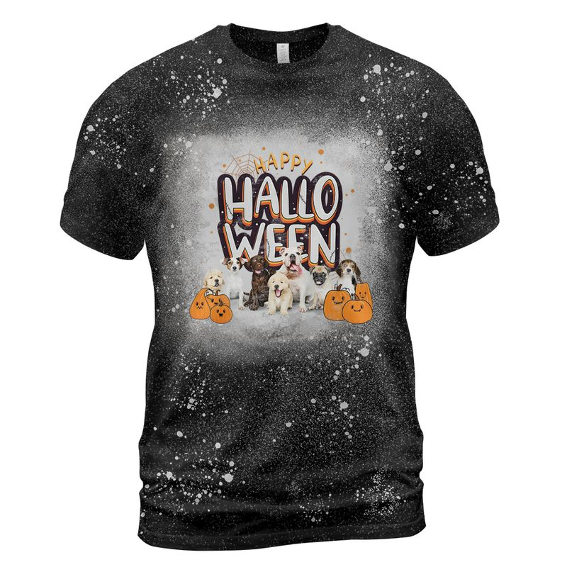 Happy Dogs Halloween Bleached Shirt