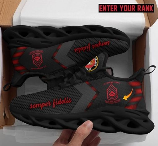 Personalized United States Marine Corps max soul sneaker