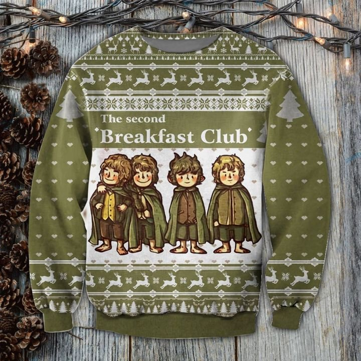 The Second Breakfast Club 3D Ugly Christmas Sweater