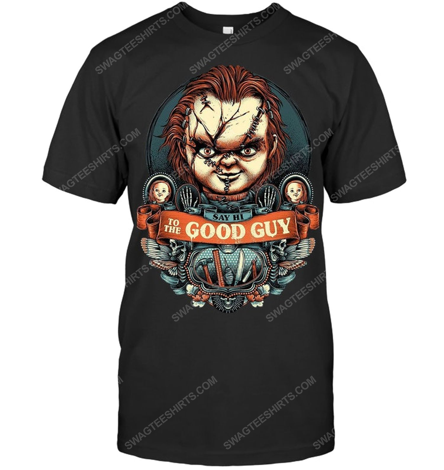 Child's play say hi to the good guy for halloween shirt 1