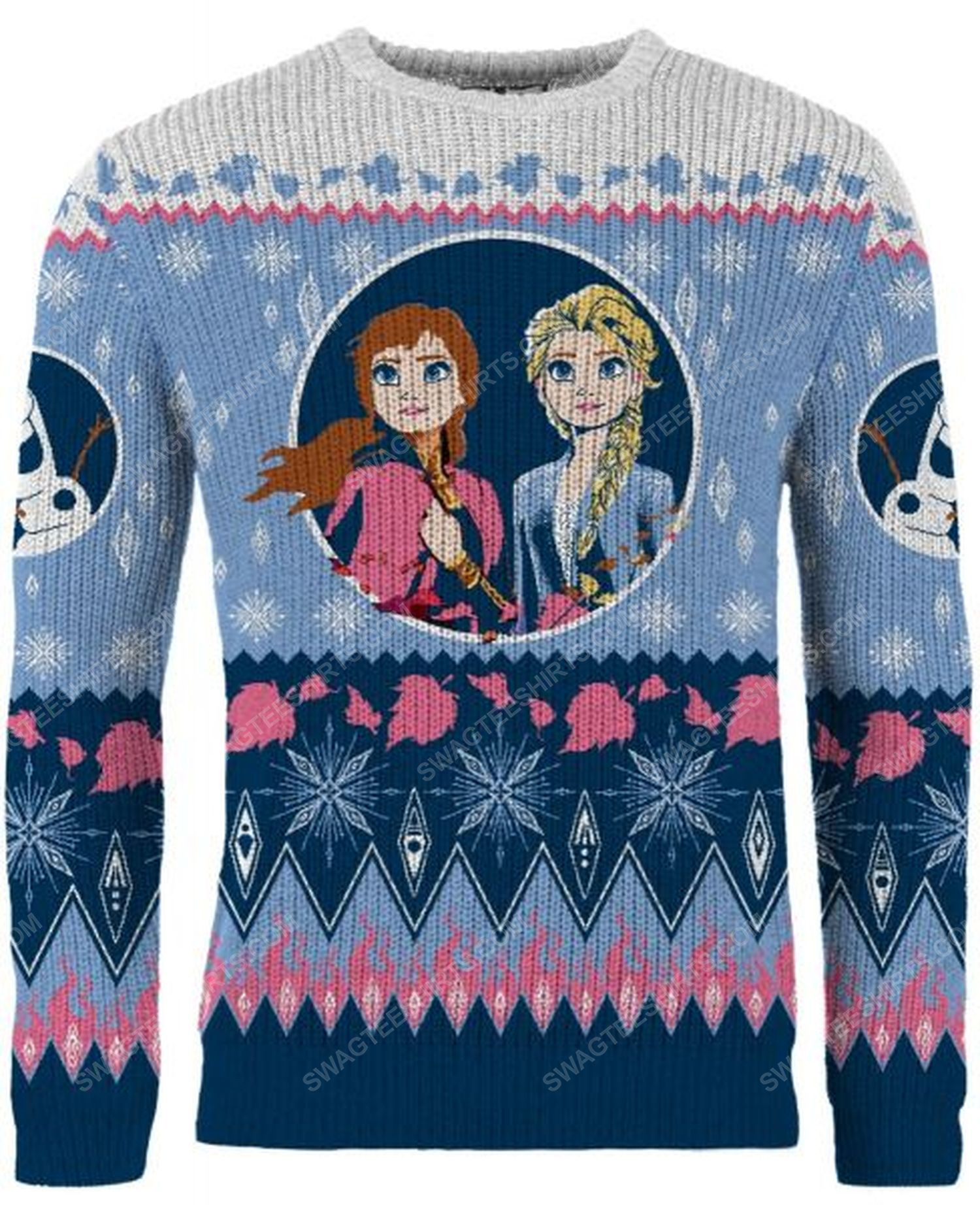 Christmas holiday frozen full print ugly christmas sweater