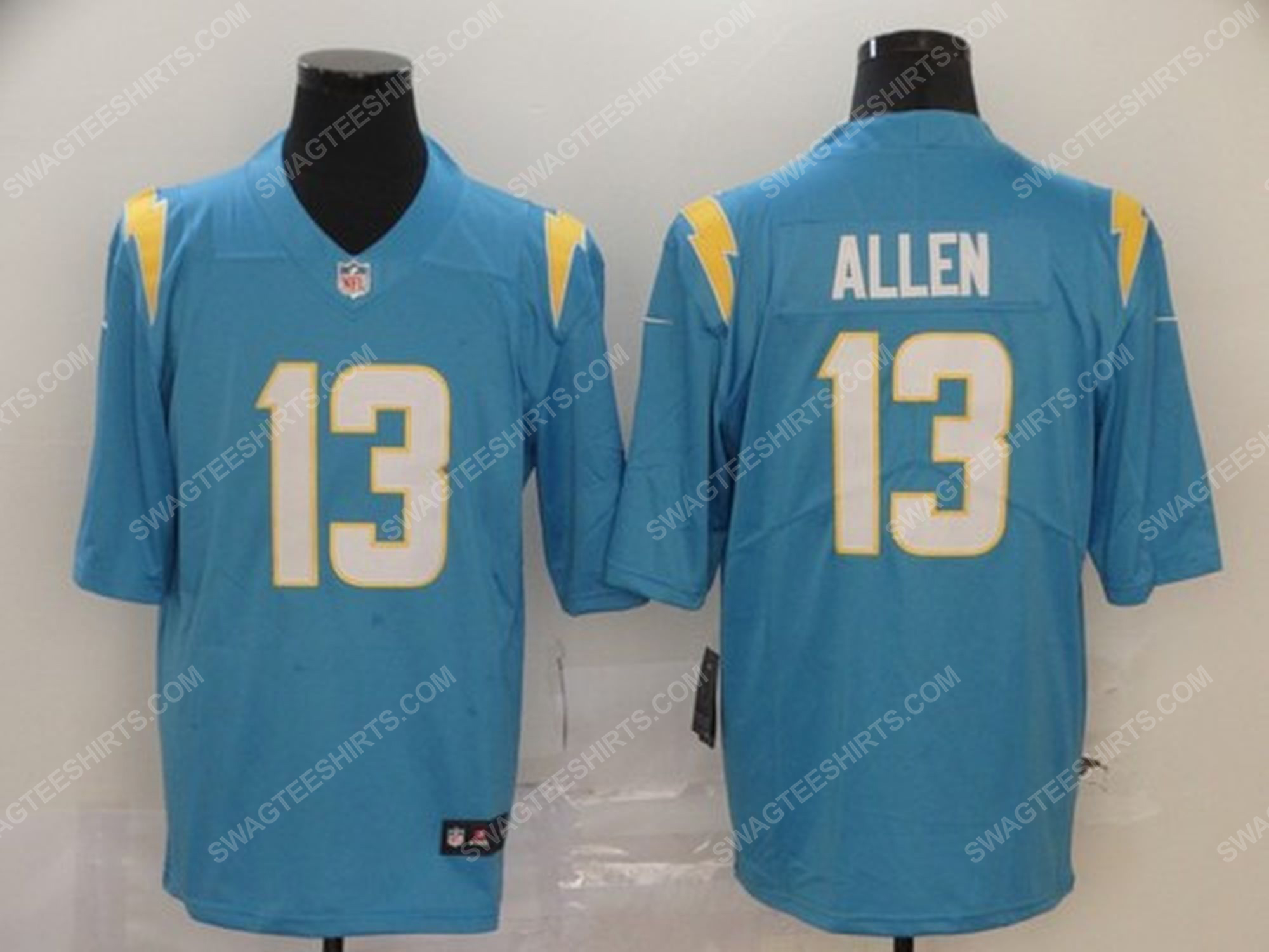 Custom name the los angeles chargers nfl football jersey
