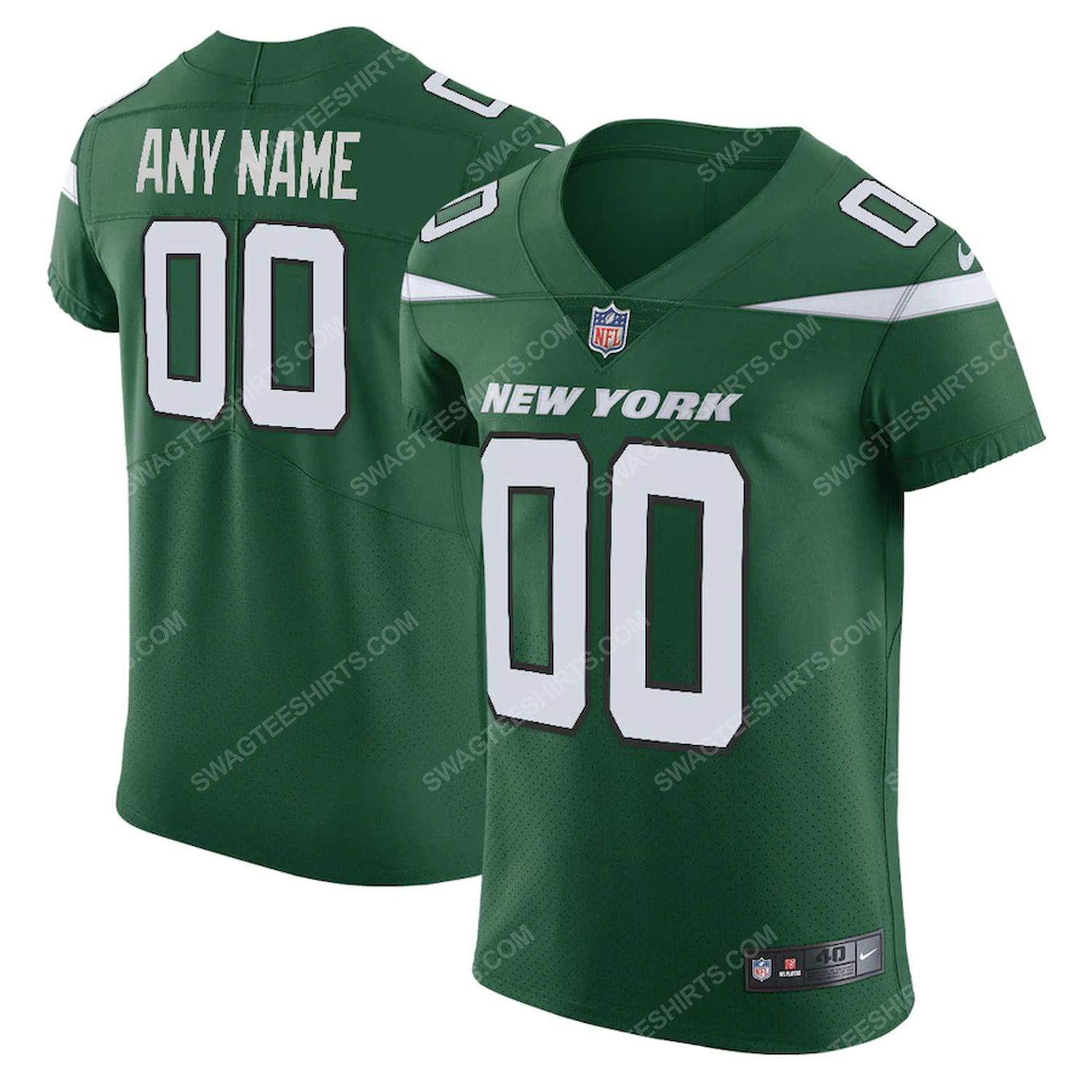 Custom new york jets all over printed football jersey