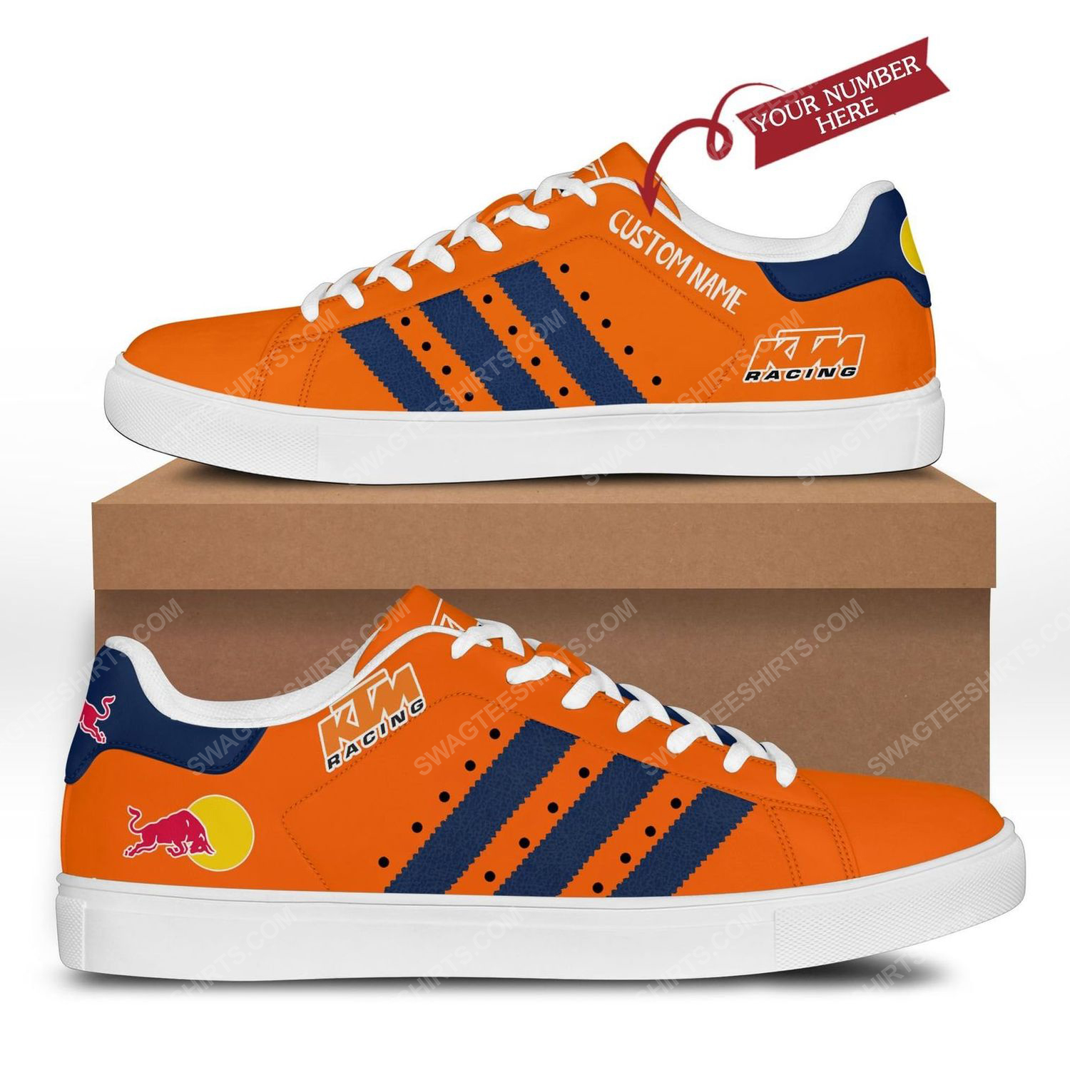 Custom red bull ktm factory racing's cooper stan smith shoes 3