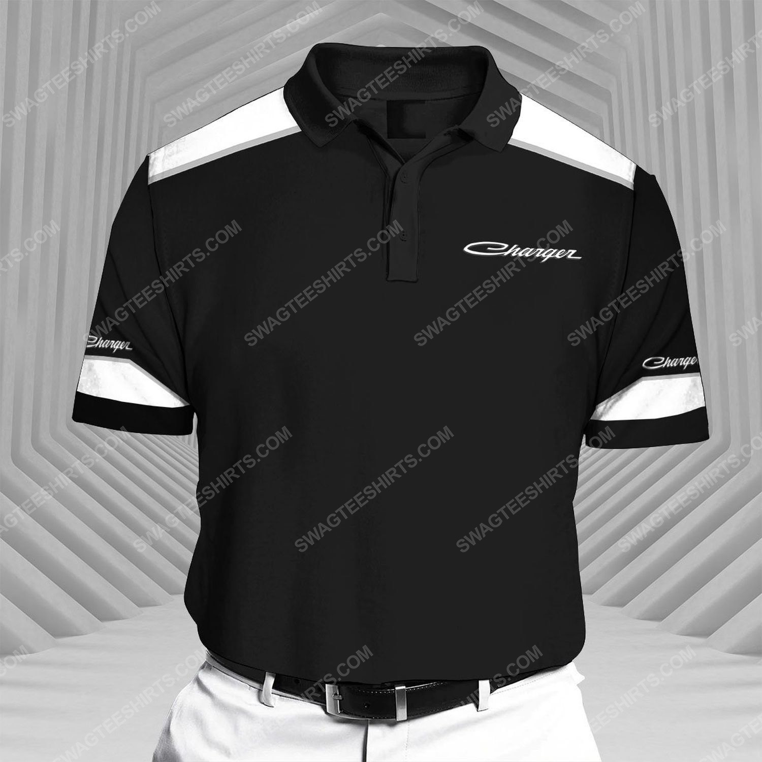 Dodge charger sports car all over print polo shirt 1