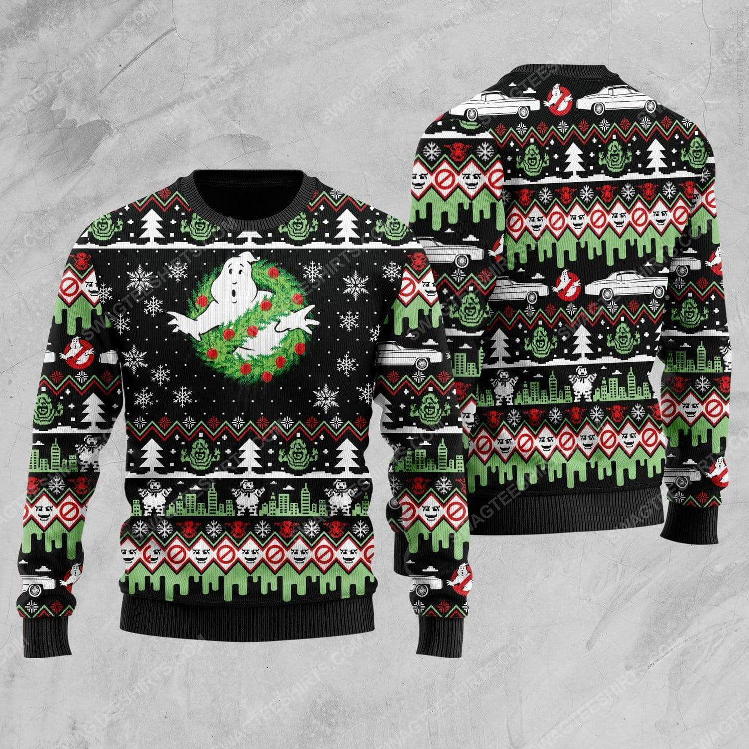 Ghostbusters movie all over print ugly christmas sweater 1