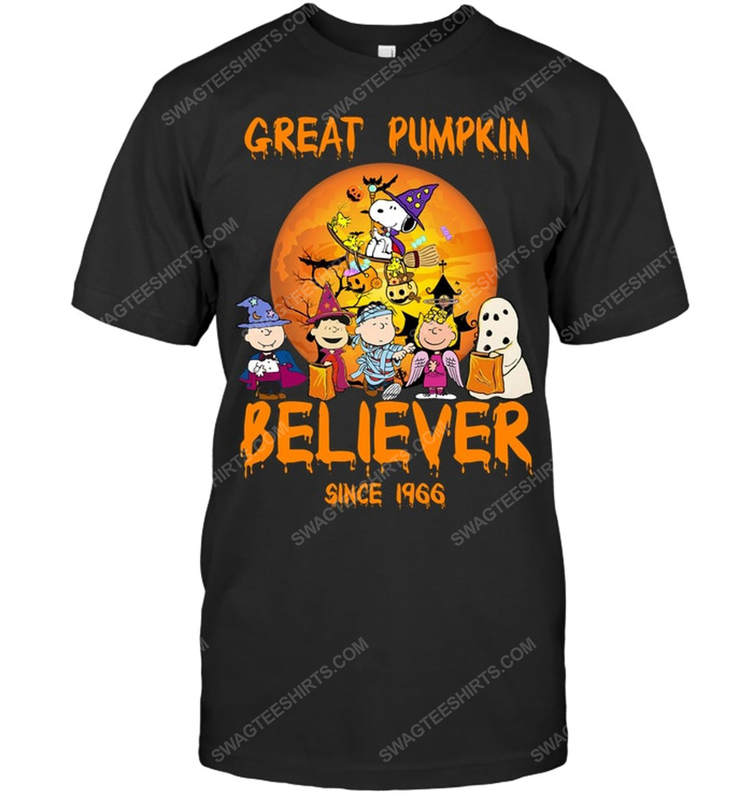Great pumpkin believer charlie brown and snoopy for halloween shirt 1