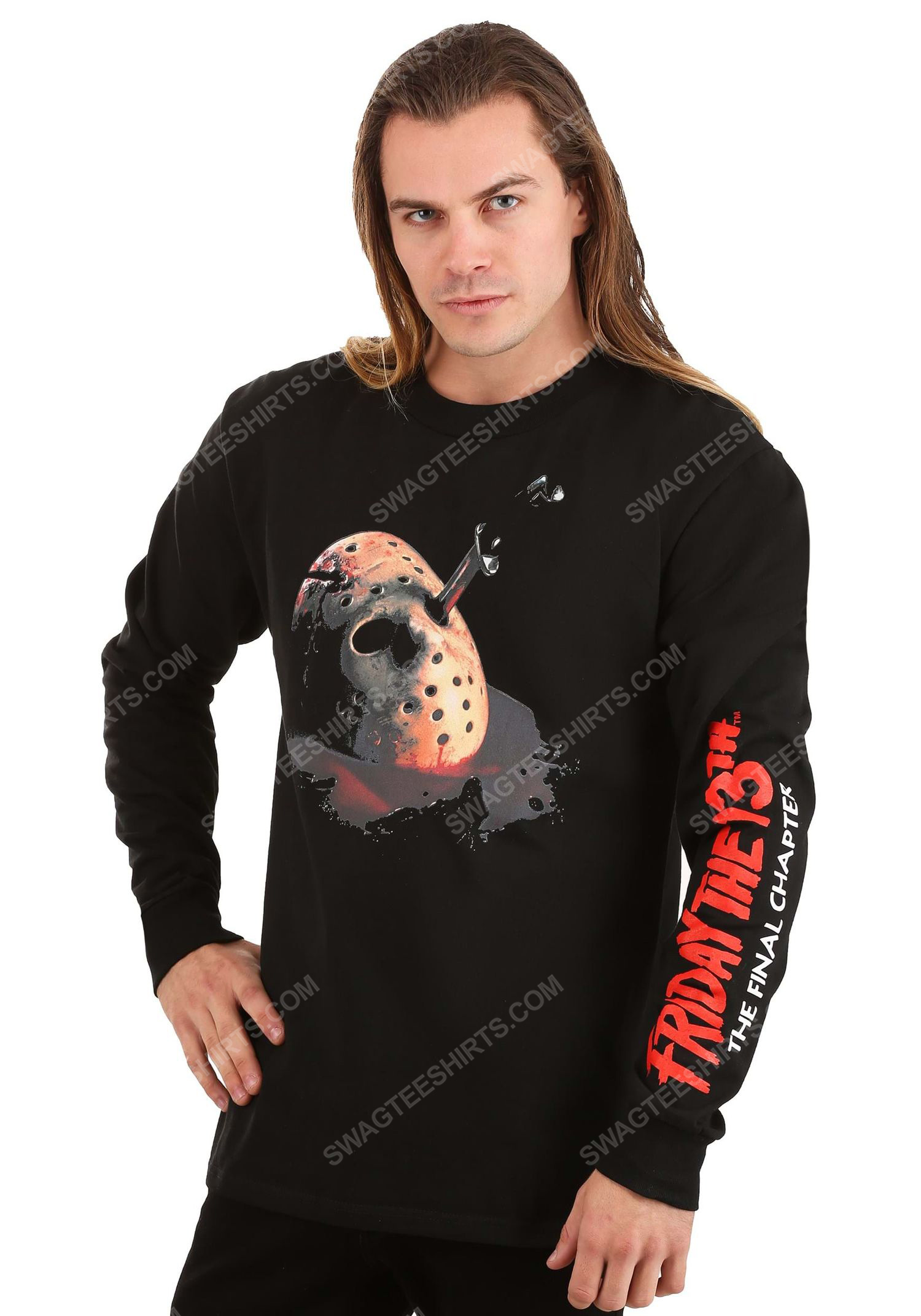 Halloween friday the 13th the final chapter full print ugly christmas sweater 1 - Copy (2)