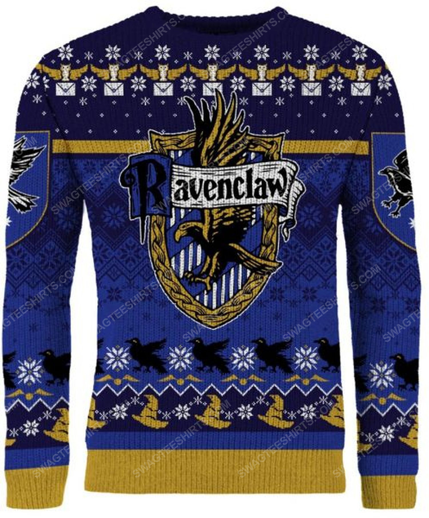 Harry potter ravenclaw house full print ugly christmas sweater