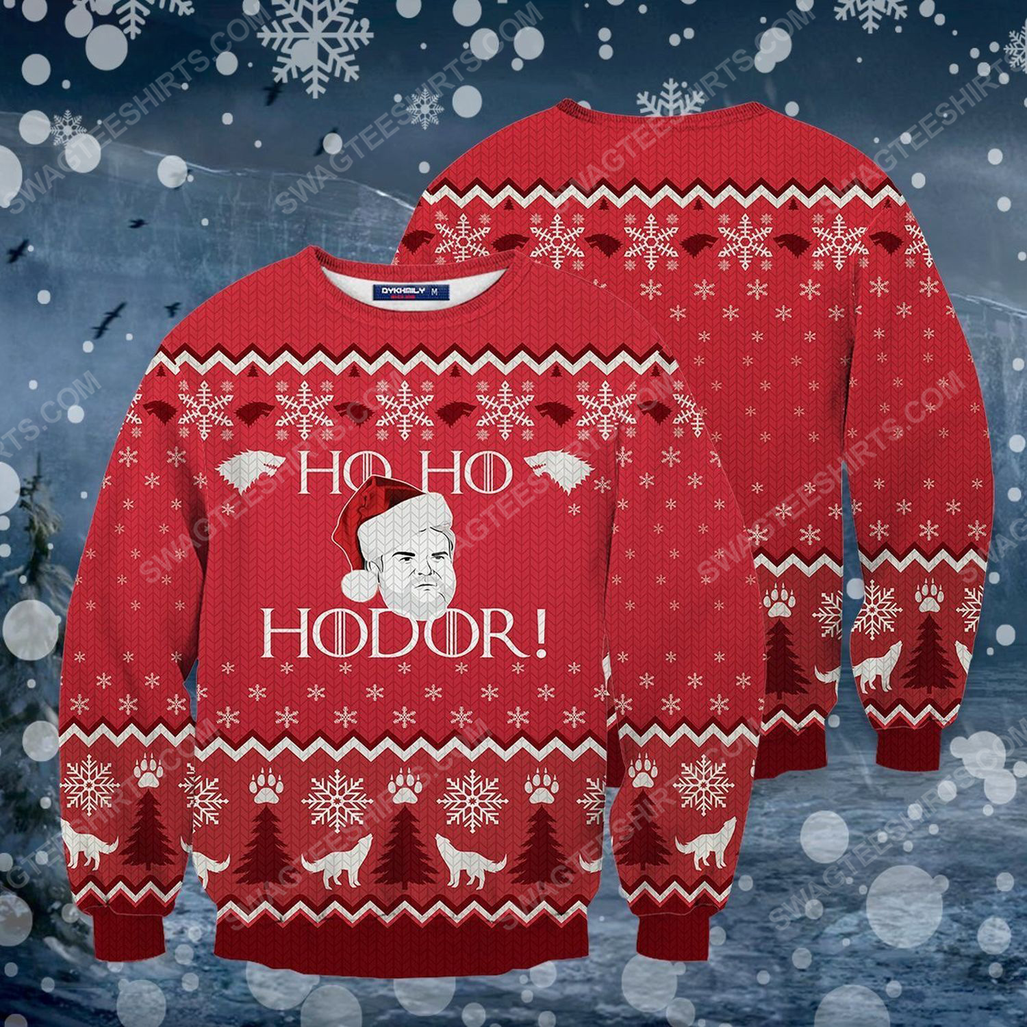 Ho ho hodor game of thrones ugly christmas sweater