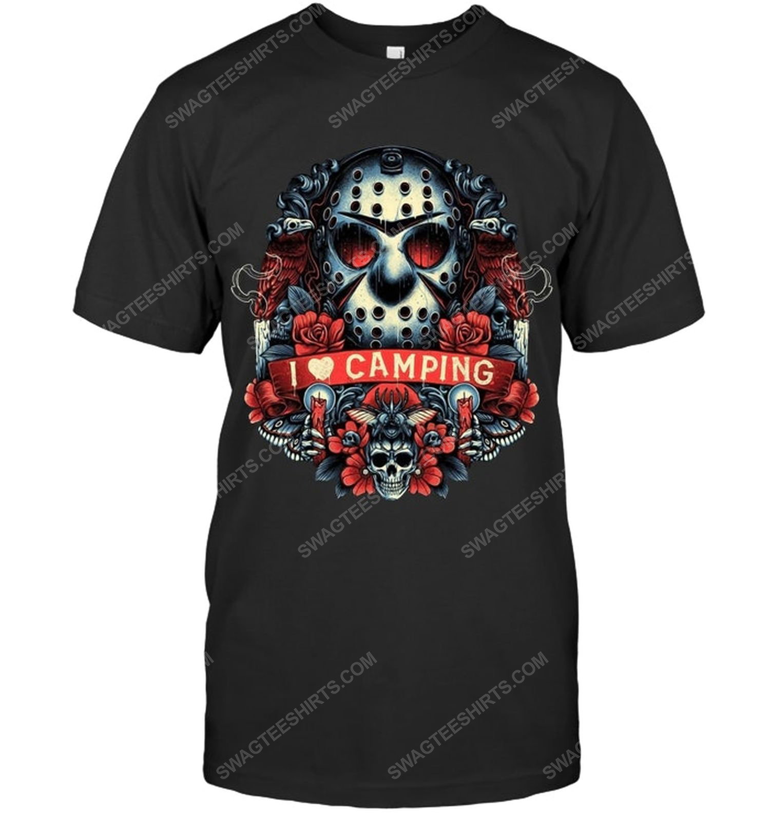 Jason voorhees i love camping for halloween shirt 1