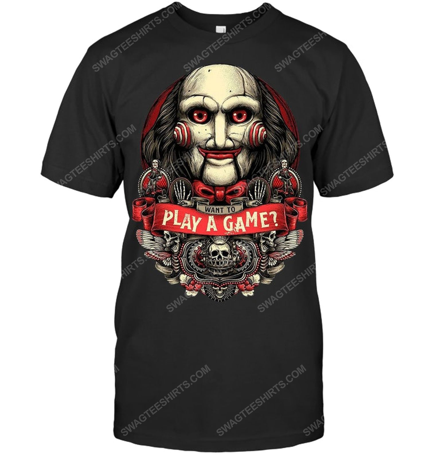 Jigsaw saw want to play a game halloween shirt 1