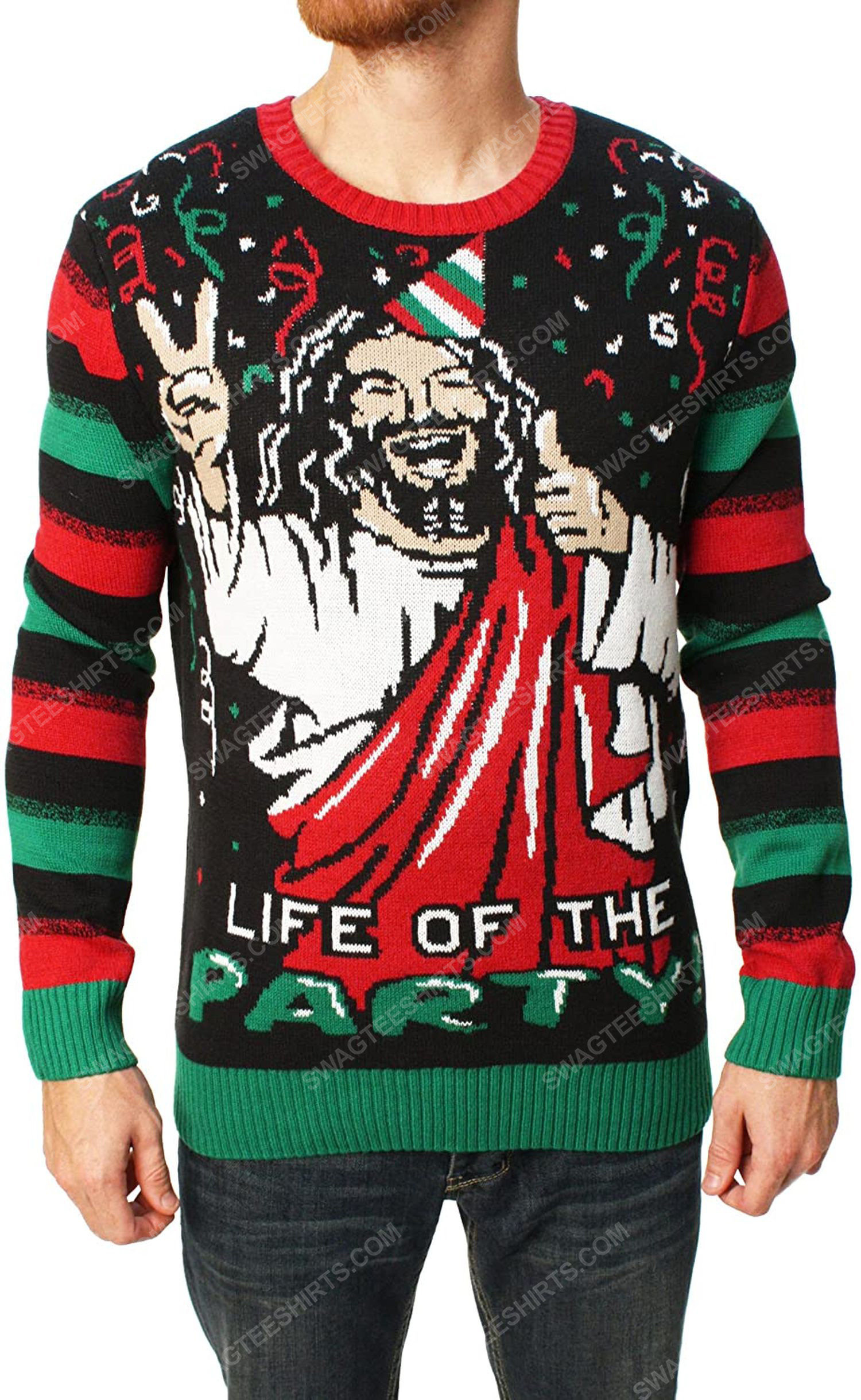 Life of the party full print ugly christmas sweater 1 - Copy (2)