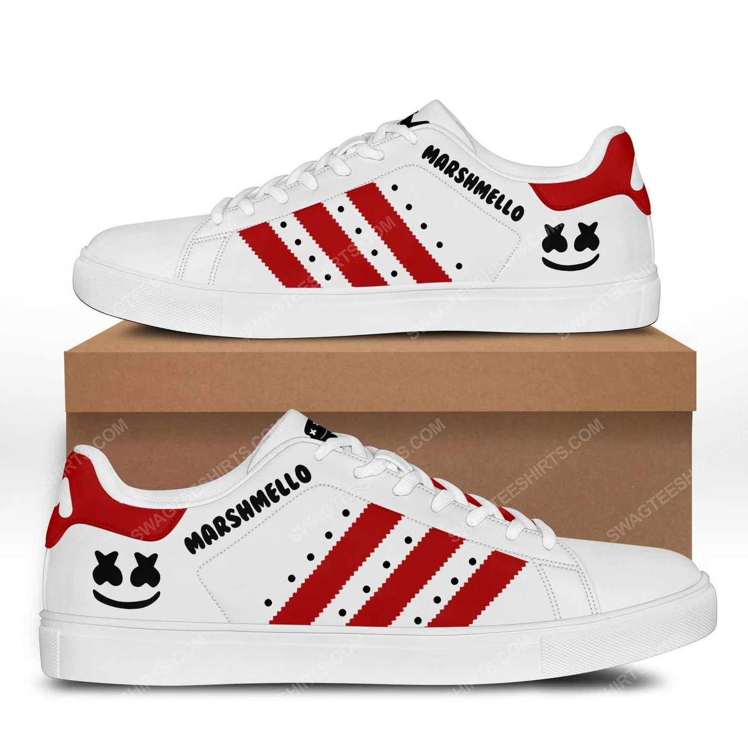 Marshmello american electronic music version red stan smith shoes 3