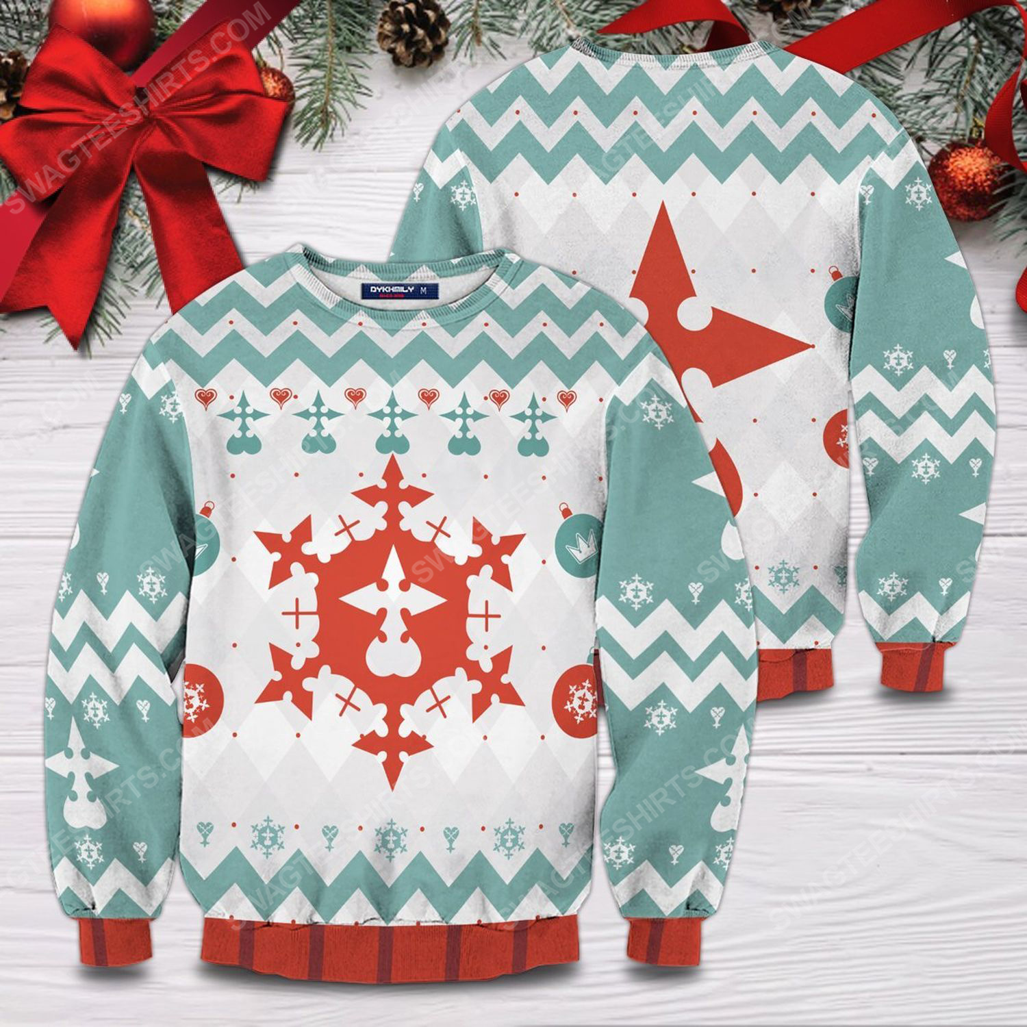 Merry xemnas full printing ugly christmas sweater 1
