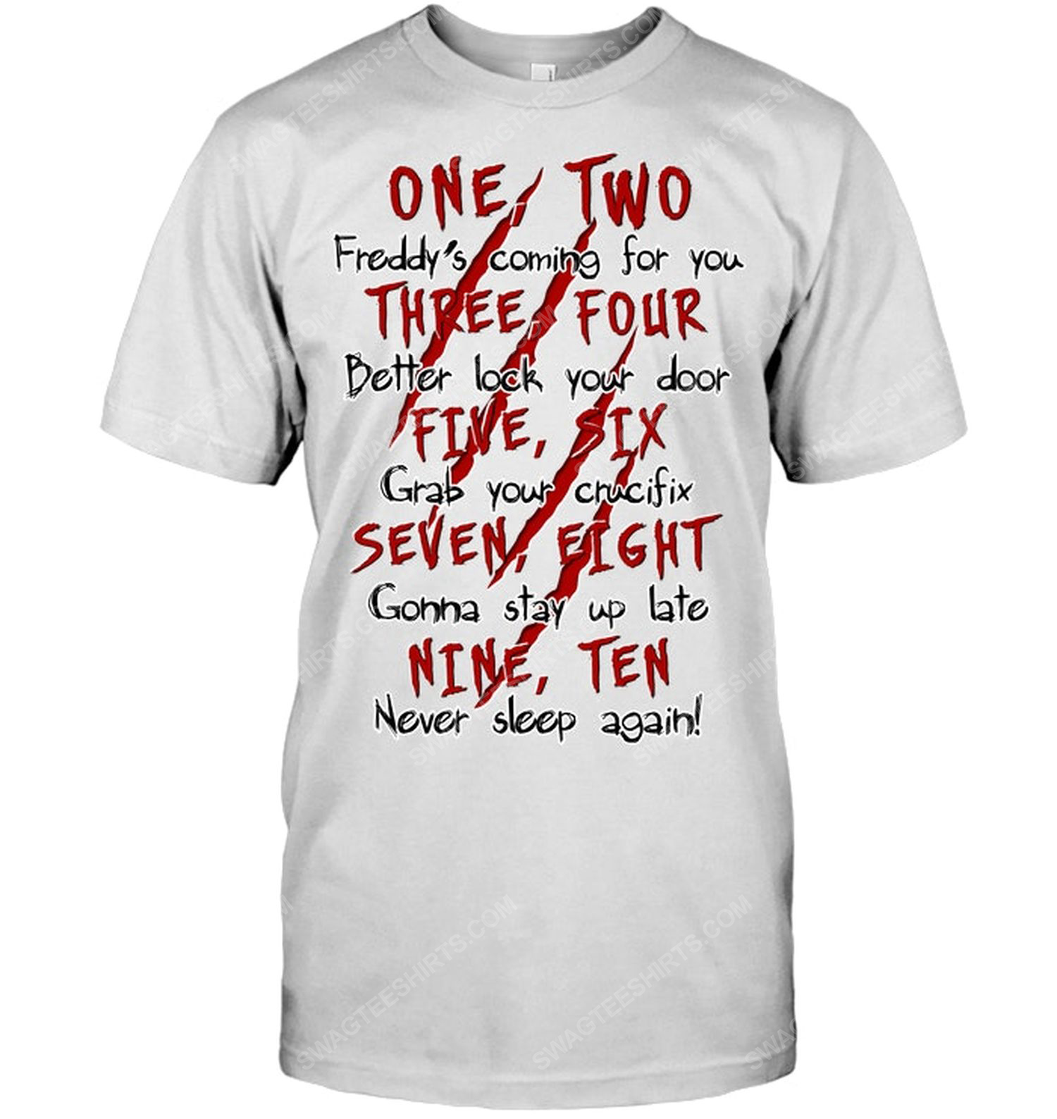 One two three four five for halloween shirt 1