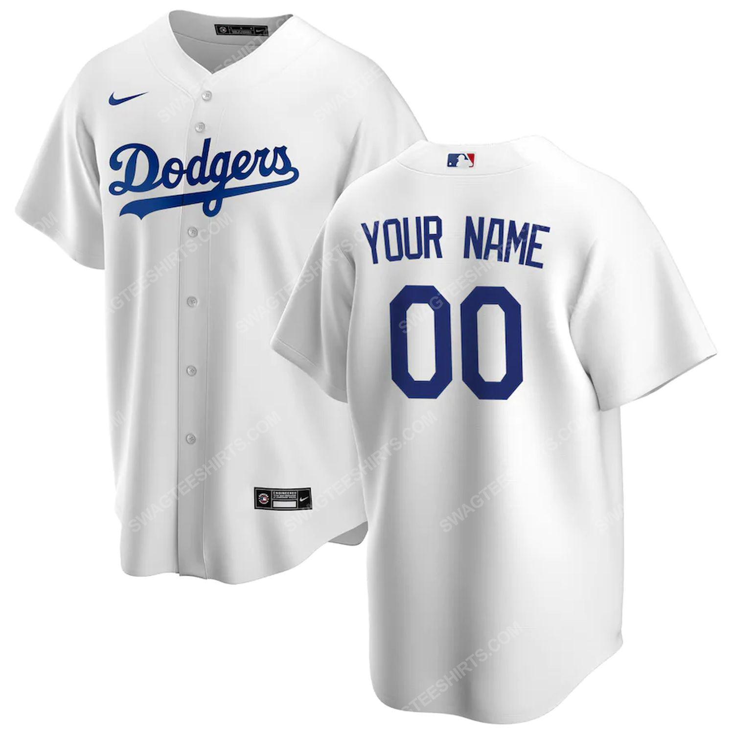 Personalized los angeles dodgers team full print baseball jersey