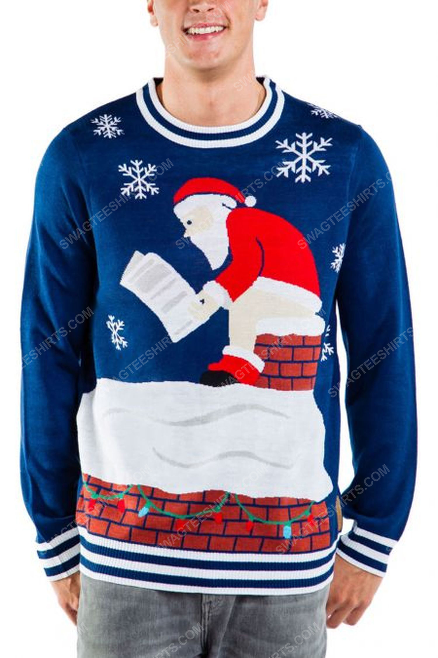 Santa on the toilet full print ugly christmas sweater 1 - Copy (2)