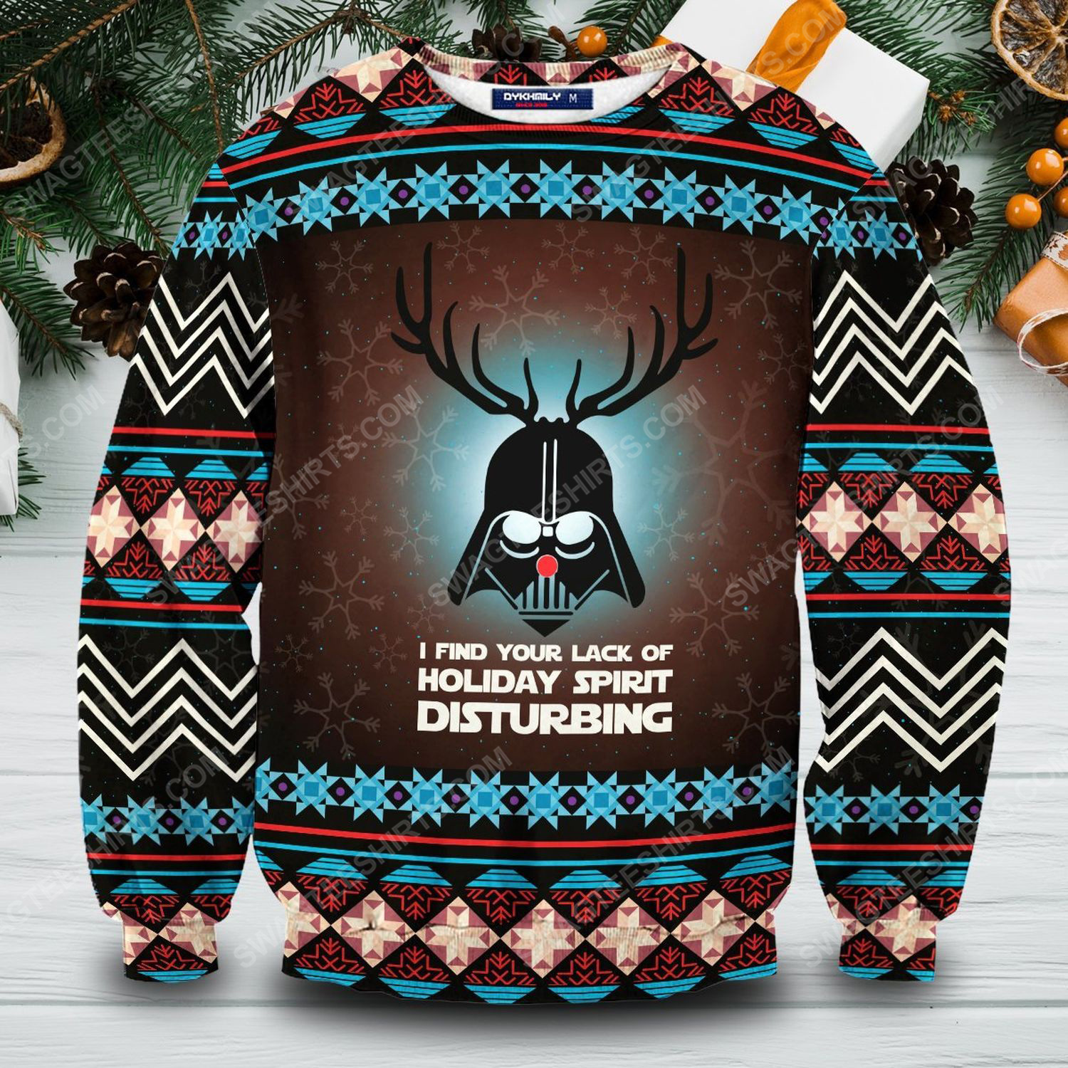 Star wars darth vader i find your lack of faith disturbing ugly christmas sweater 1