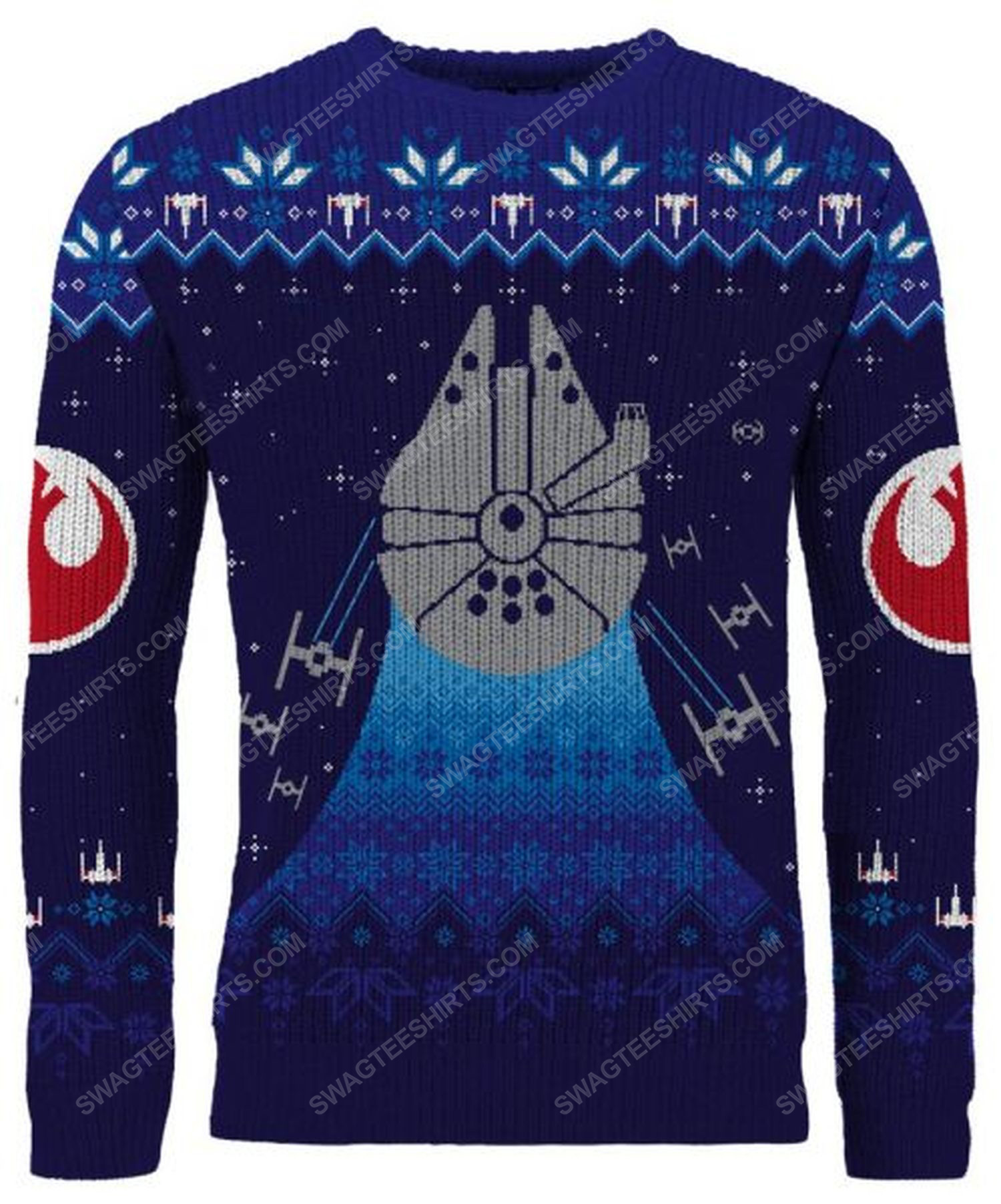Star wars frosty falcon full print ugly christmas sweater
