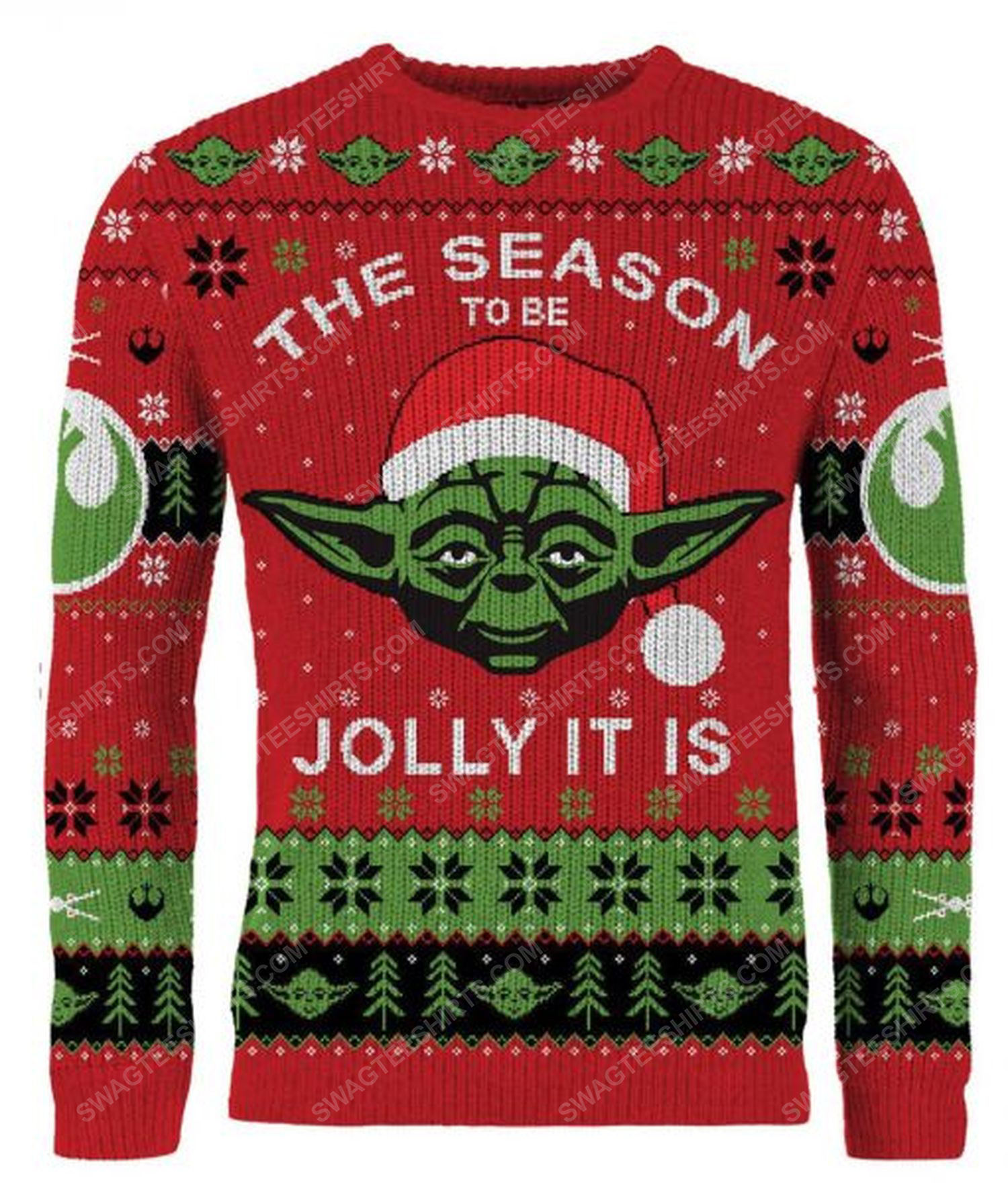 Star wars the season to be jolly it is full print ugly christmas sweater 1