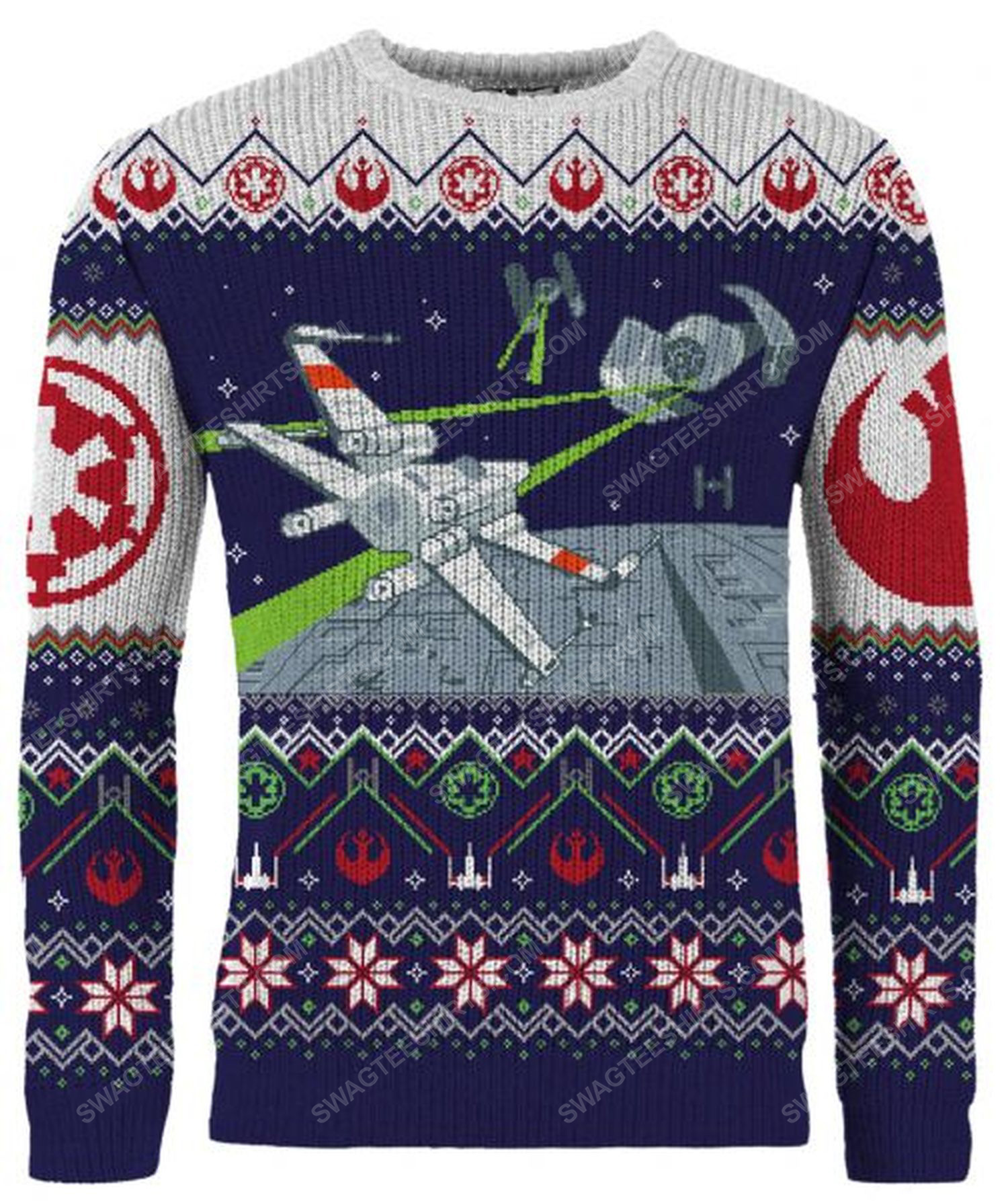 Star wars x-wing and tie fighter full print ugly christmas sweater