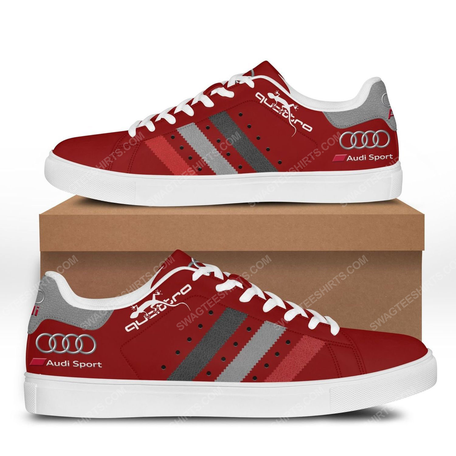 The audi quattro version red stan smith shoes 3
