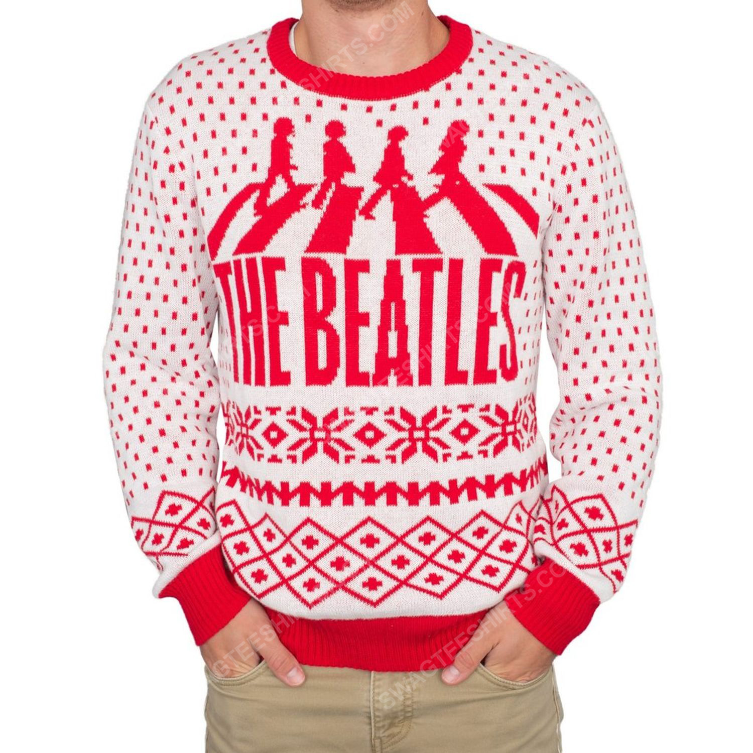 The beatles abbey road full print ugly christmas sweater 1