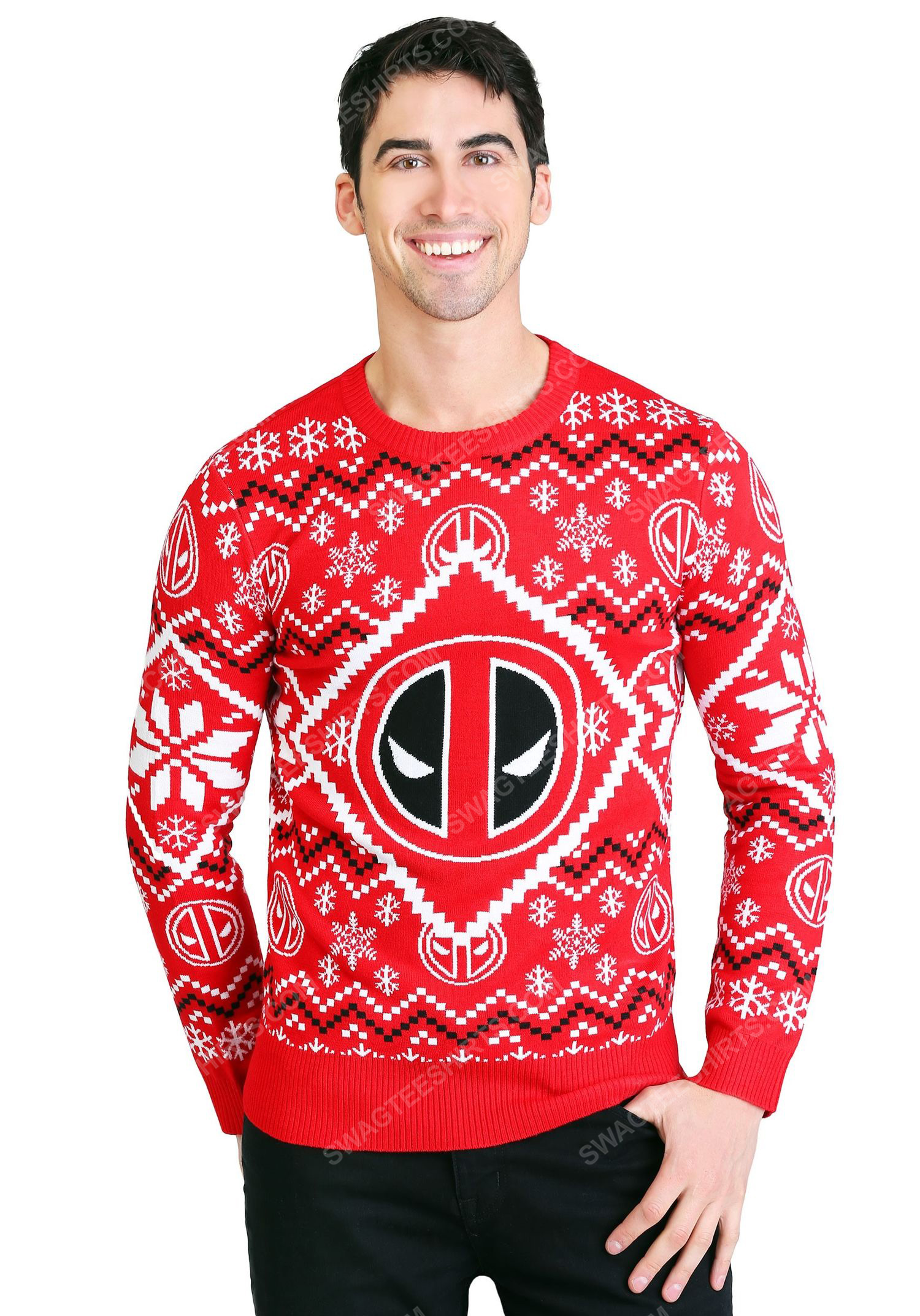 The deadpool icon full print ugly christmas sweater 1 - Copy (2)