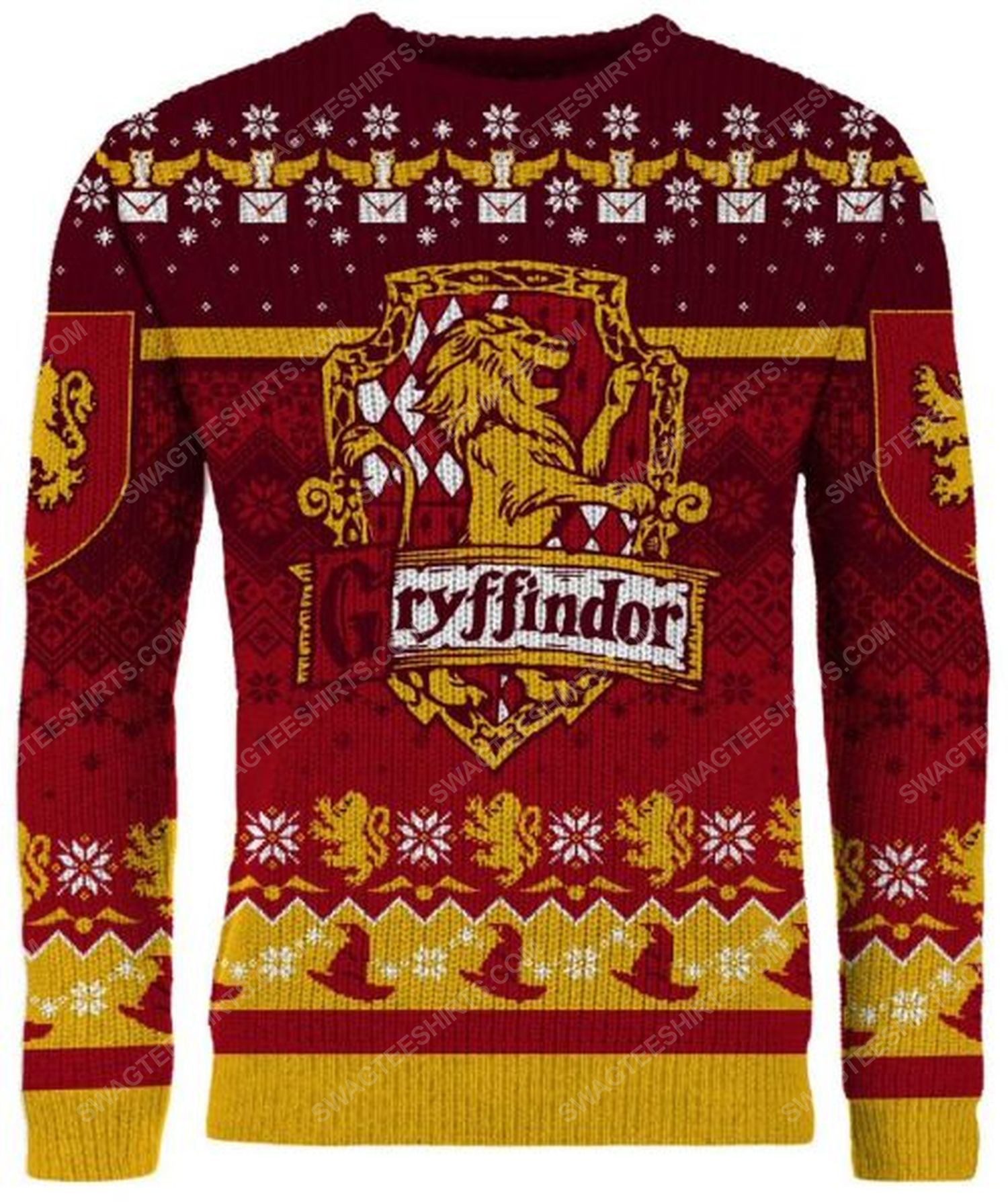 The gryffindor harry potter full print ugly christmas sweater