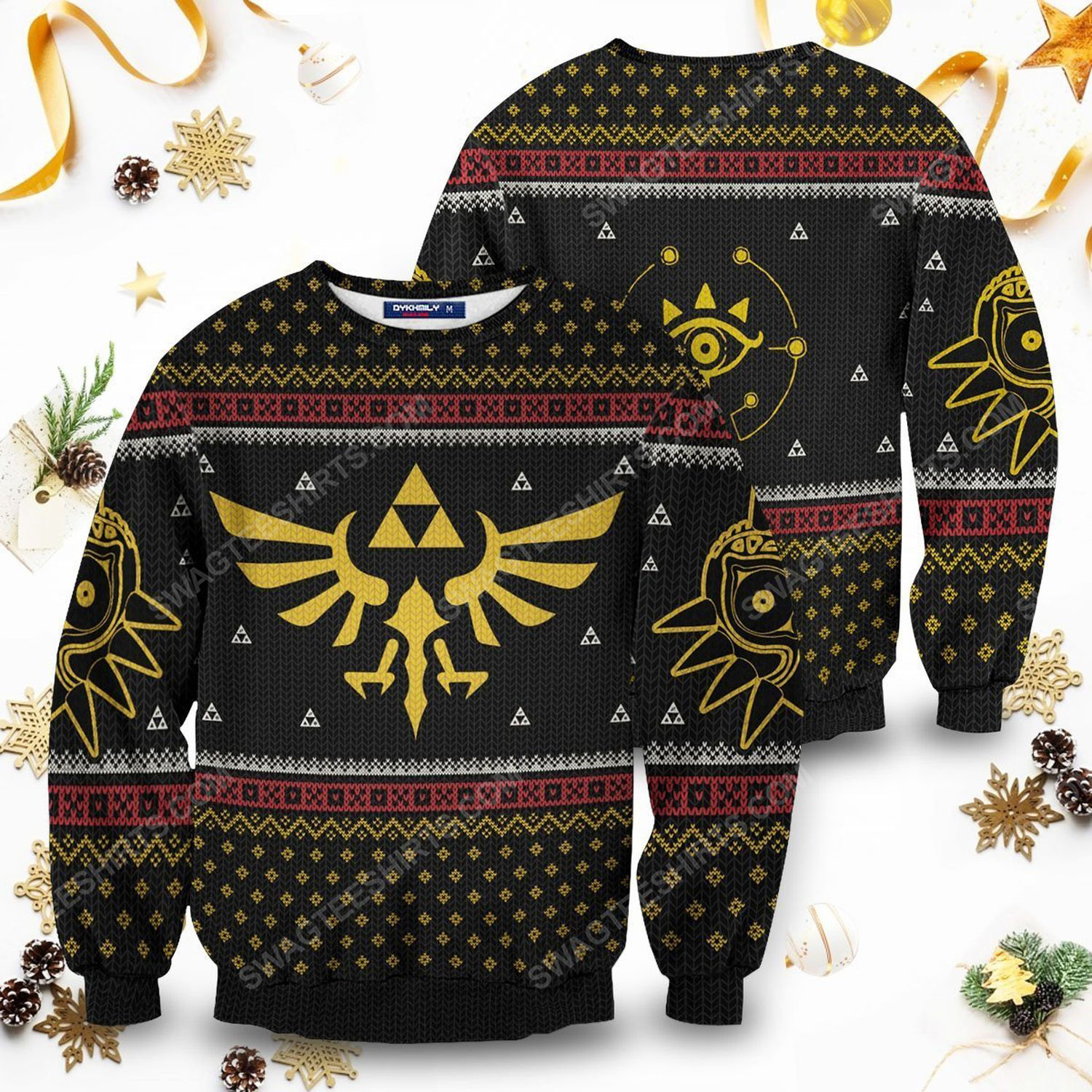 The legend of zelda christmas time full print ugly christmas sweater 1