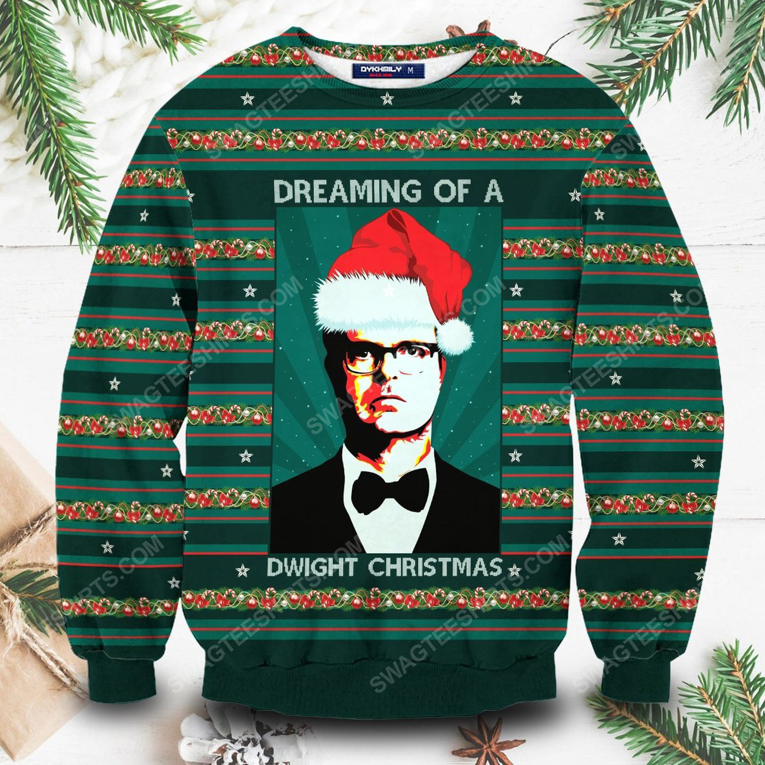 The office dreaming of a dwight christmas ugly christmas sweater