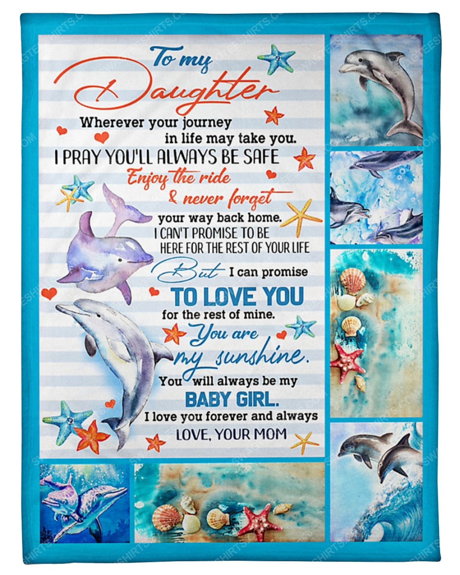 To my daughter you will always my baby girl blanket 2