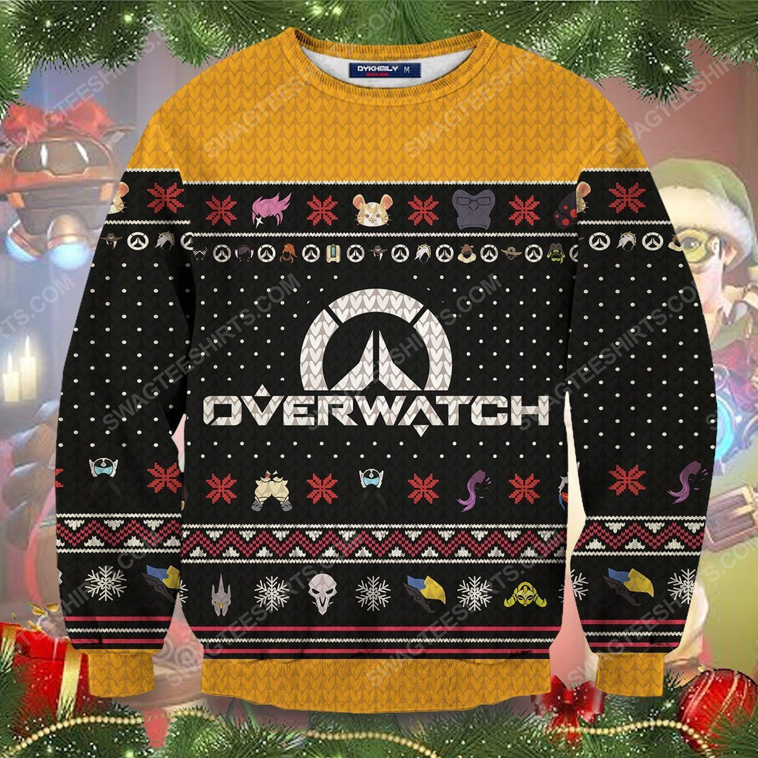 Ultimate overwatch full printing ugly christmas sweater 1