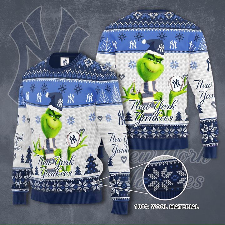 Grinch New York Yankees 3D Ugly Christmas Sweater
